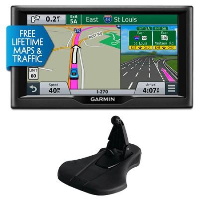 nuvi 68LMT 6` Essential Series 2015 GPS Navigation System Maps & Traffic Bundle
