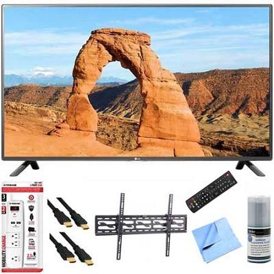 49LF5500 - 49-inch 1080p 60Hz LED HDTV Plus Tilt Mount & Hook-Up Bundle