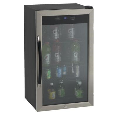 3.0cf Cabinet with Stainless Steel Glass Door Beverage Cooler (Black) BCA306SSIS