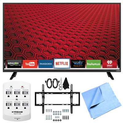 E48-C2 - 48-` E-Series 120Hz 1080p Smart LED HDTV Plus Tilt Mount Hook-Up Bundle