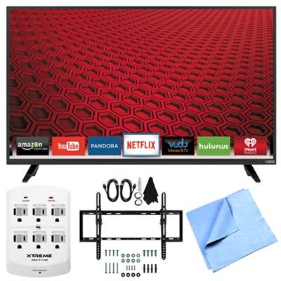 E48-C2 - 48-` E-Series 120Hz 1080p Smart LED HDTV Plus Tilt Mount Hook-Up Bundle