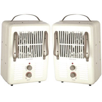 2 Pack Comfort Glow Milkhouse Style Utility Heater 3-prong Grounded Plug EUH352