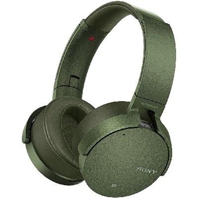 XB950N1 Noise Canceling Extra Bass Bluetooth Headphones, Green - OPEN BOX
