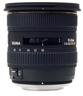 Super Wide Angle Zoom 10-20mm f/4-5.6 EX DC HSM AF Lens for Nikon Digital SLRs