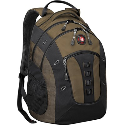 SwissGear Granite Deluxe Laptop Backpack (Olive/Black)