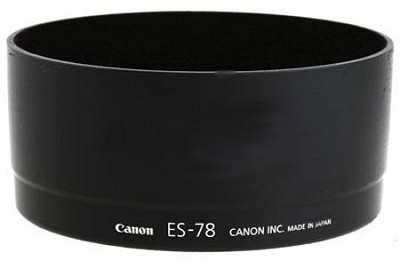 ES-78  Lens Hood for Canon EF 50 f/1.2L, EF 200 f/2.8L II USM, EF 80-200 f/2.8L