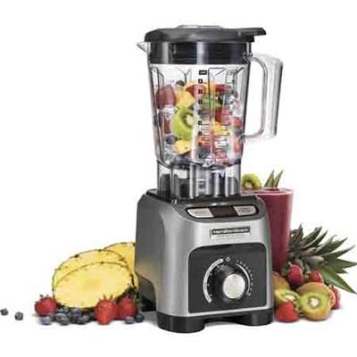 1800W Blender with 64 oz BPA-Free Jar & 4 Programs, Silver - 58850