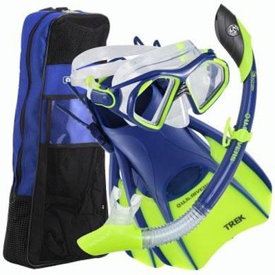 Medium Admiral LX/Island Dry LX/Trek/Travel Bag Set in Cobalt Blue - 261230