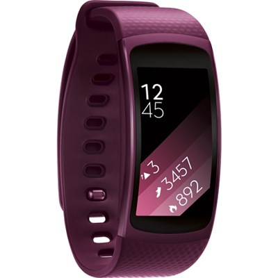 SM-R3600ZIAXAR Gear Fit2 Smartwatch with Large Band - Pink - OPEN BOX