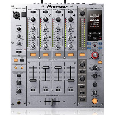 4 Channel USB DJ Mixer with Boost Color FX - Silver