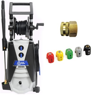 AR Blue Clean AR390SS 2000 PSI Cold Water Electric Pressure Washer Bundle