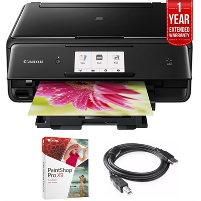 PIXMA TS8020 Wireless Printer,Scanner & Copier Black + Warranty Bundle