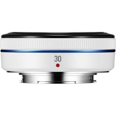 Compact 30mm F2.0 White NX Pancake Lens for NX Series Cameras - OPEN BOX
