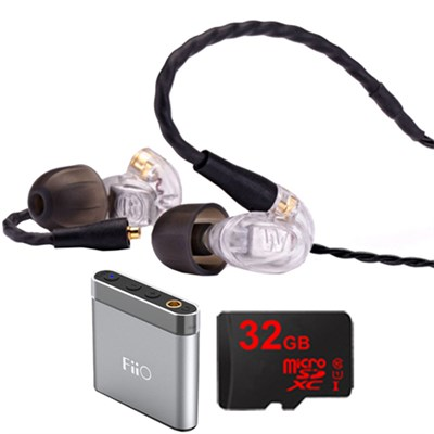 UM Pro 10 High Performance In-ear Headphone (Clear) -78514 w/ FiiO A1 Amp Bundle