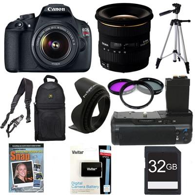 EOS Rebel T5 SLR Digital Camera Landscape Photographer Bundle