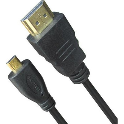 High Speed micro-HDMI to HDMI A/V Cable 6 Feet