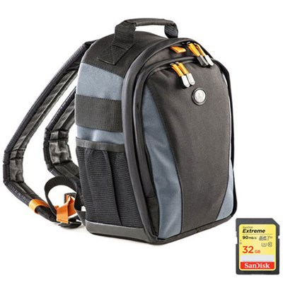 Jazz 83 Photo/iPad Backpack (Black/Multi) Includes SanDisk 32GB Memory Card