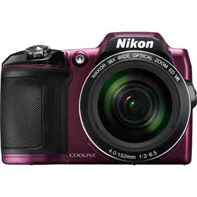 COOLPIX L840 16MP 38x Opt Zoom Digital Camera (Plum) Refurbished