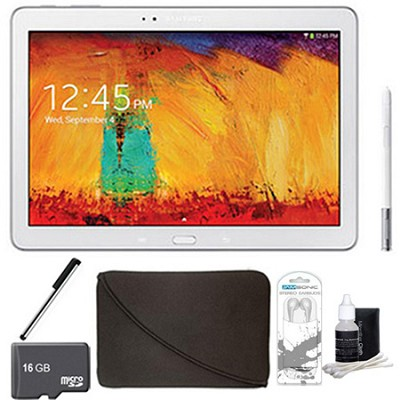 Galaxy Note 10.1 Tablet 2014 Edition (16GB, WiFi, White) 16 GB Accessory Bundle