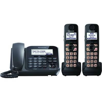 KX-TG4772B Dect 6.0 2-Handset Landline Telephone