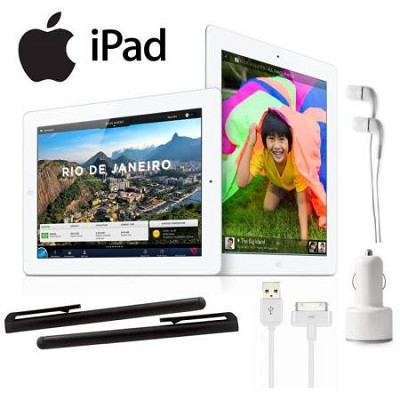 iPad 3 With WiFi 16GB - White with Accessory Bundle (Model MD328LL/A)