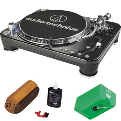 Professional DJ Turntable - AT-LP1240-USB w/ Record Cleaning Kit