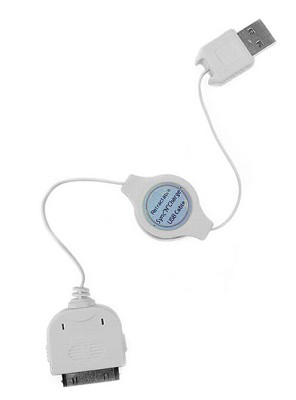 USB 2.0 Retractable Cable for iPod