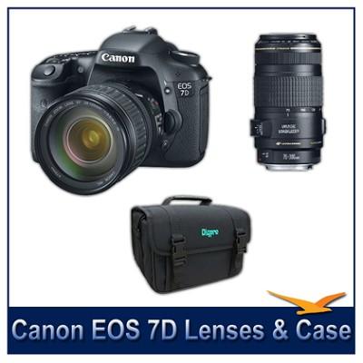 EOS 7D w/ 28-135mm and 70-300mm USM IS Lenses Instant Rebate Bundle