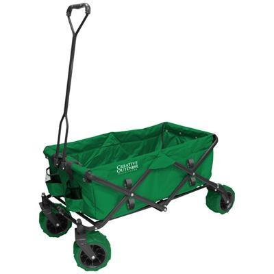 Folding Garden Wagon Cart Green