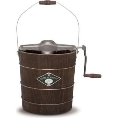 White Mountain 4-Quart Wooden-Bucket Manual Hand-Crank Ice-Cream Maker