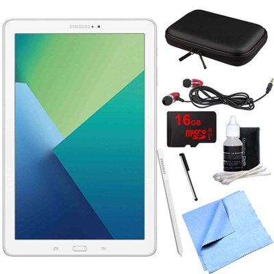 Galaxy Tab A 10.1 Tablet PC White w/ S Pen, WiFi & Bluetooth w/ 16GB Card Bundle