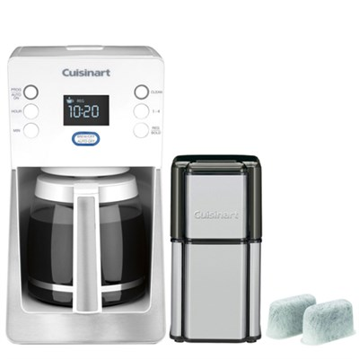Perfec Temp 14-Cup Programmable Refurb White Coffeemaker w/ Refurbished Bundle
