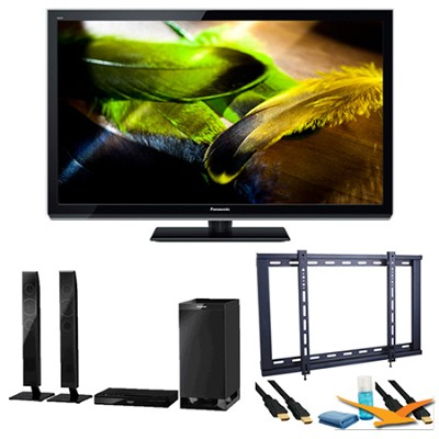 55` TC-P55UT50 VIERA 3D Full HD (1080p) Plasma TV Speaker Bundle