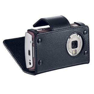 Black Leather holster Carrying Case for N95