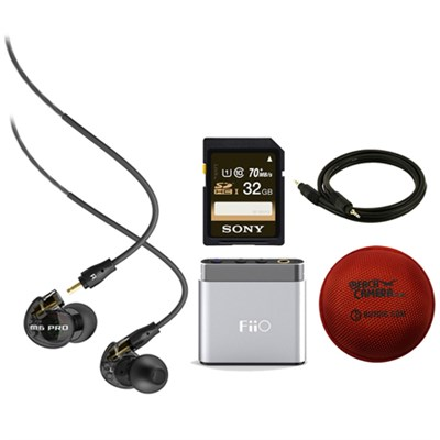 M6 Pro Noise-Isolating Musician's In-Ear Monitors (Smoke) w/ FiiO A1 Amp Bundle