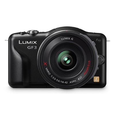 Lumix DMC-GF3XK 12.1 MP Micro Four Thirds Compact Camera with PZ 14-42mm Lens
