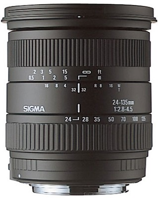 Wide Angle-Telephoto 24-135mm f/2.8-4.5 Aspherical IF AF Lens for Canon EOS