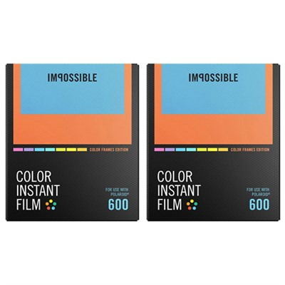 2-Pack Polaroid 600 and Instant Lab Film Color w/ Color Frames