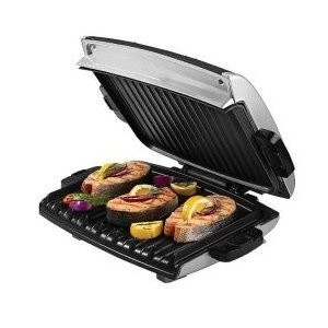80-Square-Inch  Nonstick Grill with Variable Temperature Control