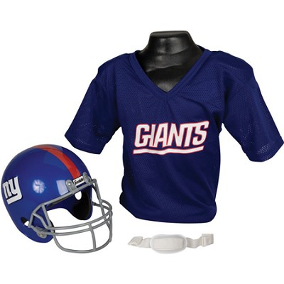 Youth NFL New York Giants Helmet and Jersey Set