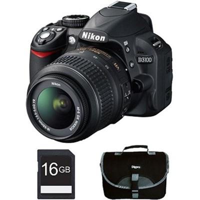 D3100 14MP DX-format SLR w/ 18-55mm VR Lens - Bundle Deal Factory Refurbished