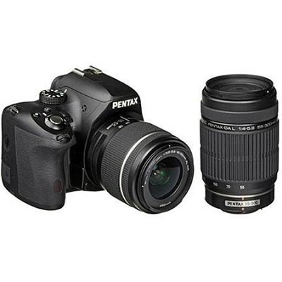 K-50 Digital SLR Camera Kit with 18-55mm AL WR Lens + DA L 55-300mm ED Lens