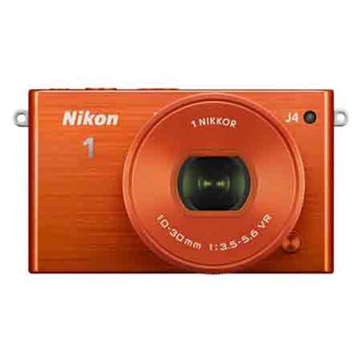 1 J4 Mirrorless Digital Camera with 10-30mm Lens - Orange - Refurbished