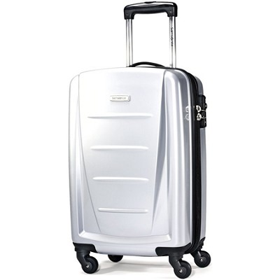 Winfield 2 20` Carry On Hardside Spinner Luggage (Silver)