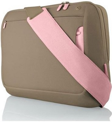 15-Inch Messenger Bag (Khaki/Powder Pink)