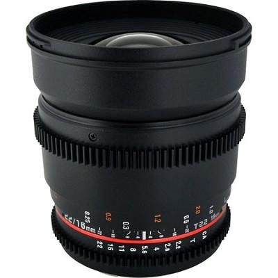 CV16M-C 16mm T2.2 Cine Wide Angle Lens for Canon EF Mount Cameras