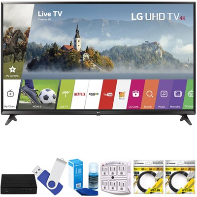 49` Super UHD 4K HDR Smart LED TV 2017 Model 49UJ6300 with Terk Tuner Bundle