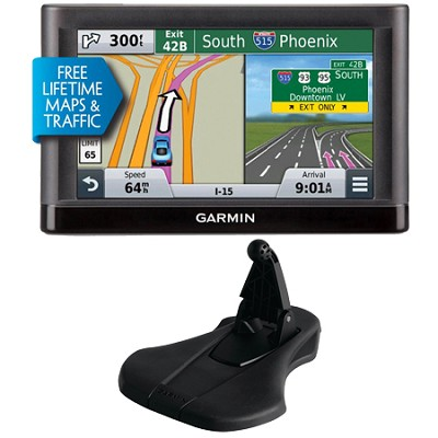 nuvi 55LMT Essential GPS System w/ Lifetime Maps,Traffic & Garmin Friction Mount