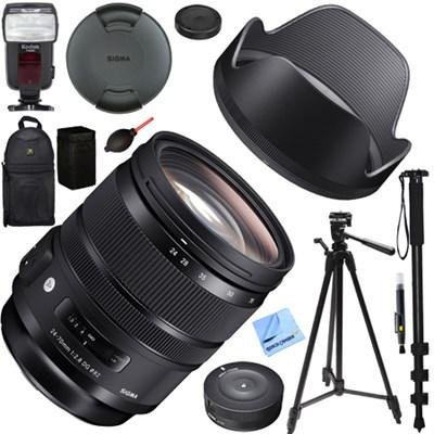 24-70mm F2.8 DG OS HSM Art Lens for Nikon Mount (576-955) Deluxe Bundle