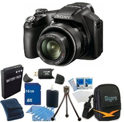 Cyber-shot DSC-HX100V Digital Camera 16GB Bundle
